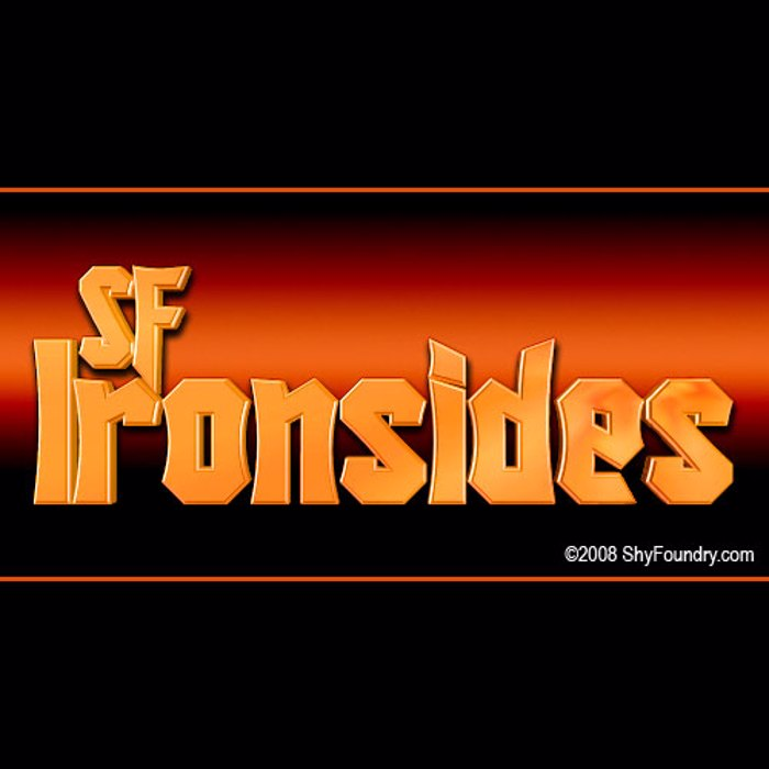 SF Ironsides Font poster