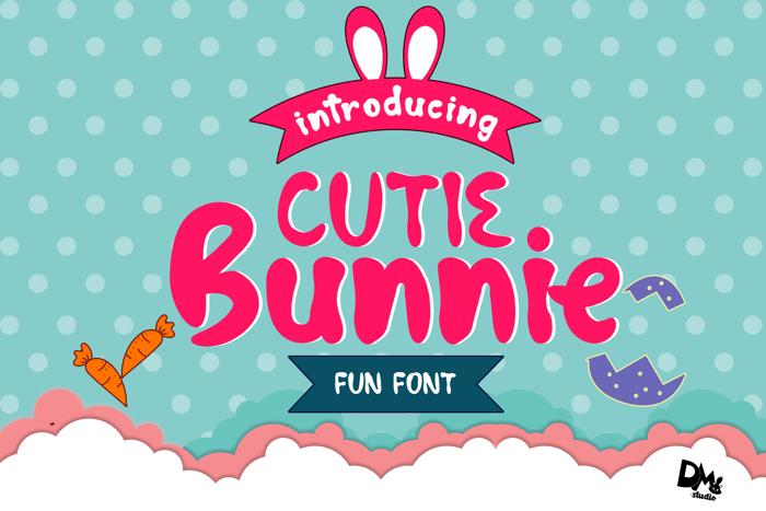 Cutie Bunnie Font poster