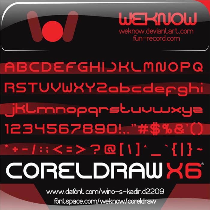 coreldraw Font poster