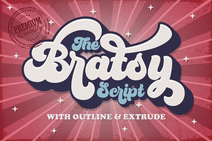 Bratsy Script Font poster