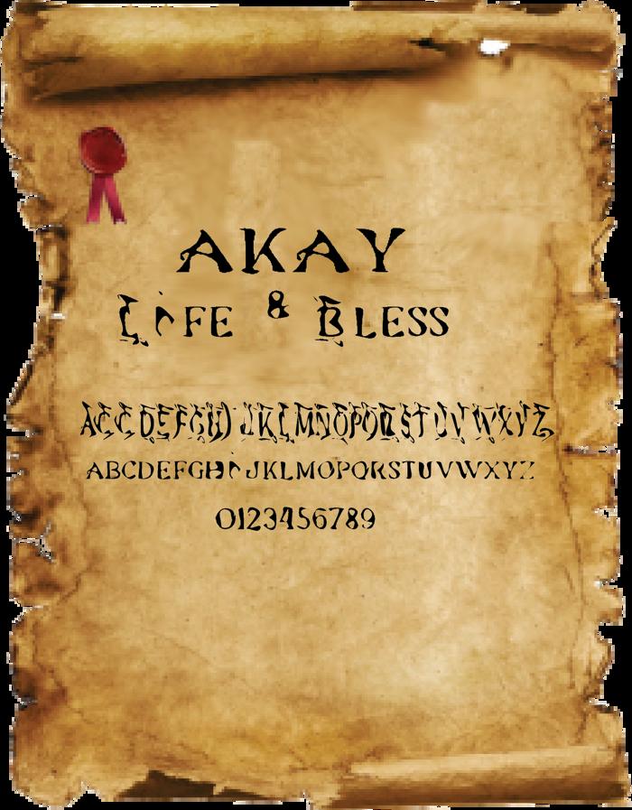 akay Font poster