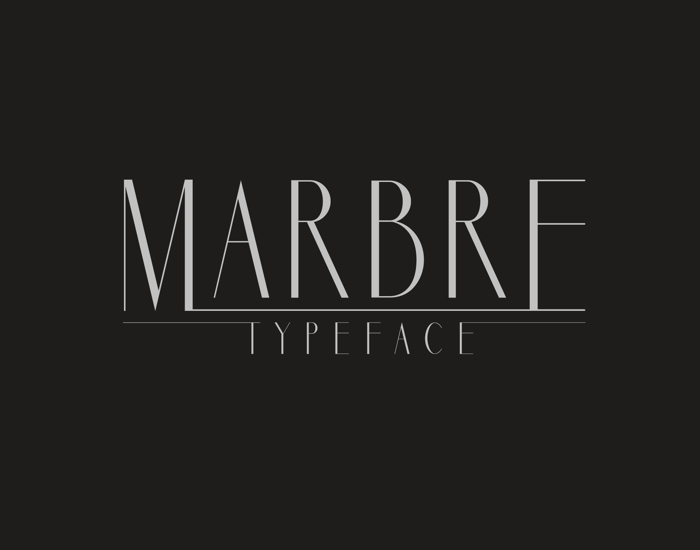 Marbre Sans Font poster