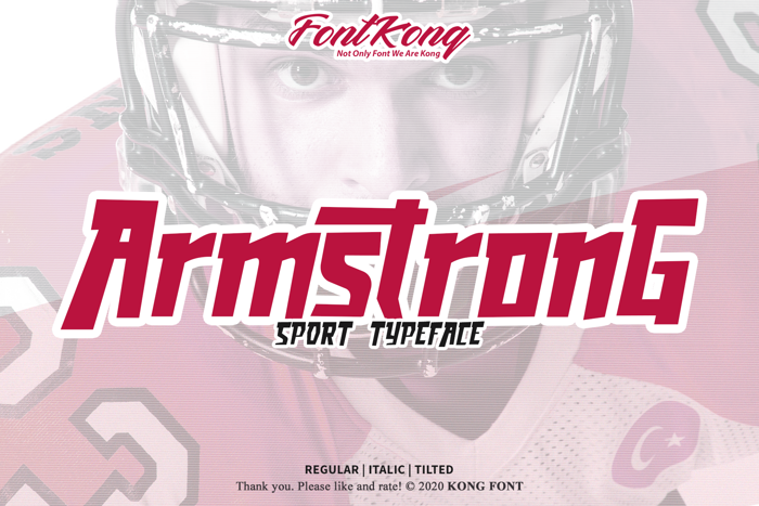 Armstrong Font poster