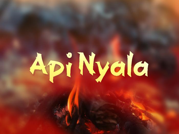 a Api Nyala Font poster