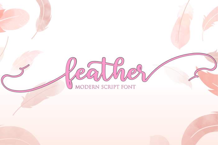 feather Font poster