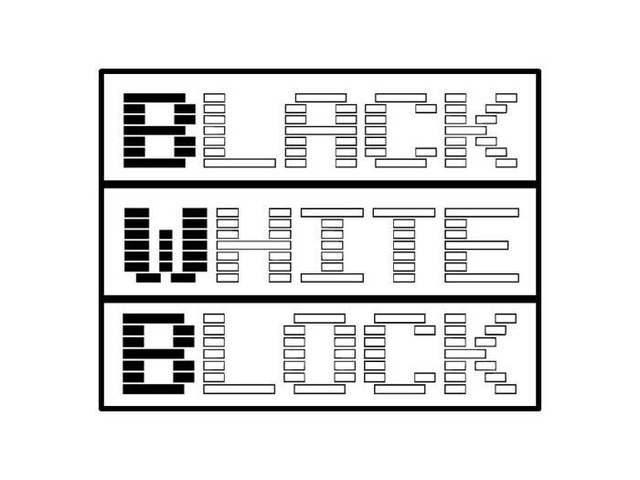 Black White Block Font poster