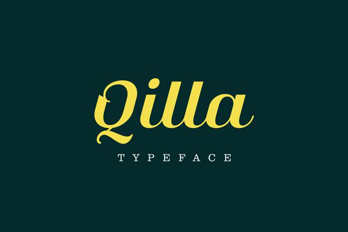 Qilla Font poster