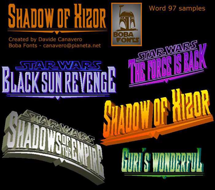 Shadow of Xizor Font poster