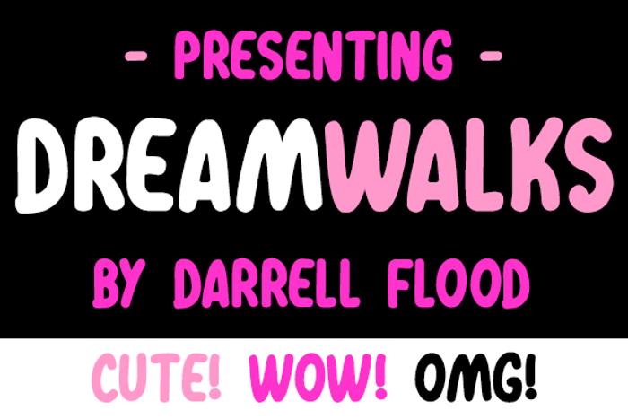 Dreamwalks Font poster
