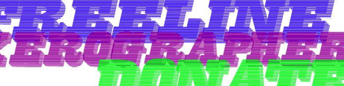 FreeLine Font poster