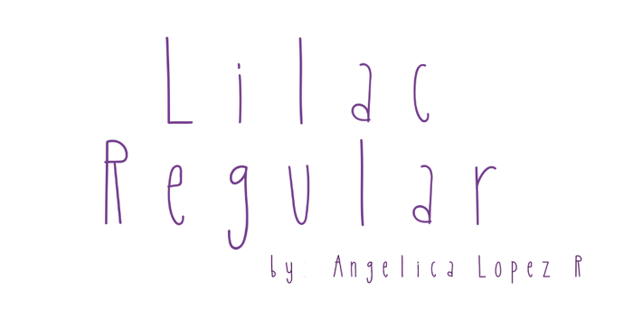 Lilac Font poster