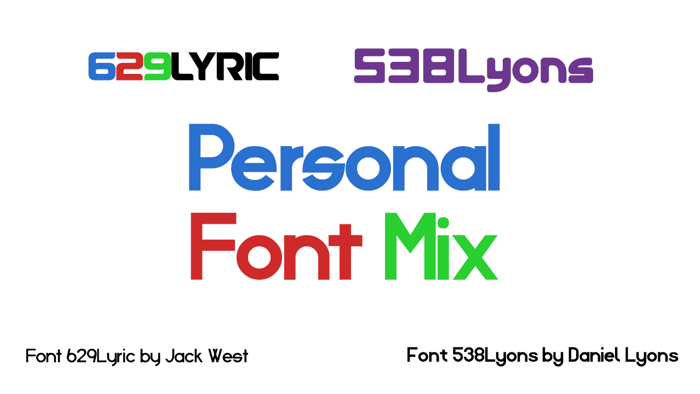 Personal Font Mix poster