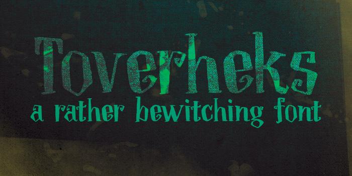 DK Toverheks Font poster