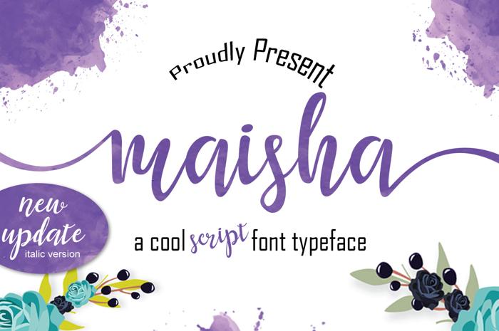 maisha Font poster
