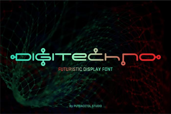 Digitechno Font poster