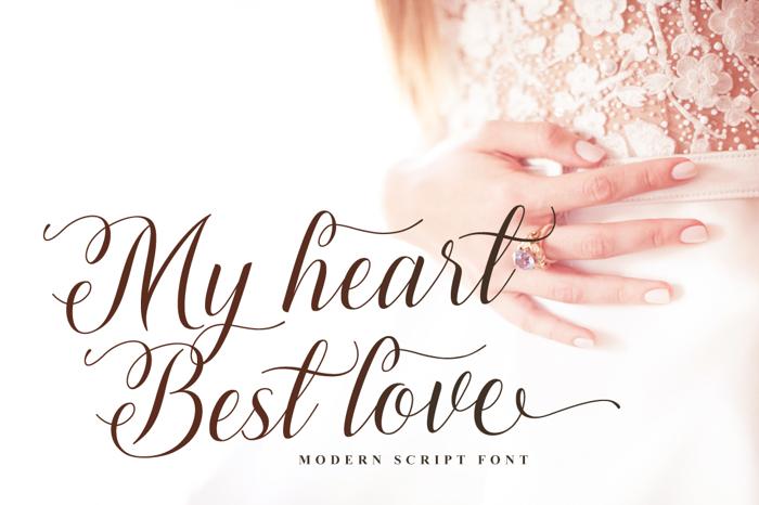 Lovely Girl Font poster