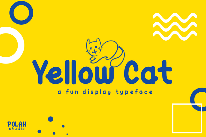 Yellow Cat Font poster