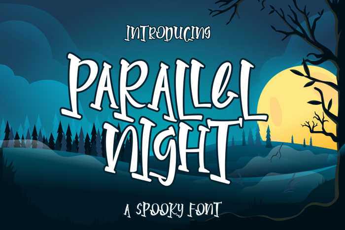 Parallel Night Font poster