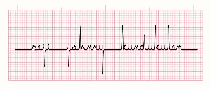 ECG saji Font poster