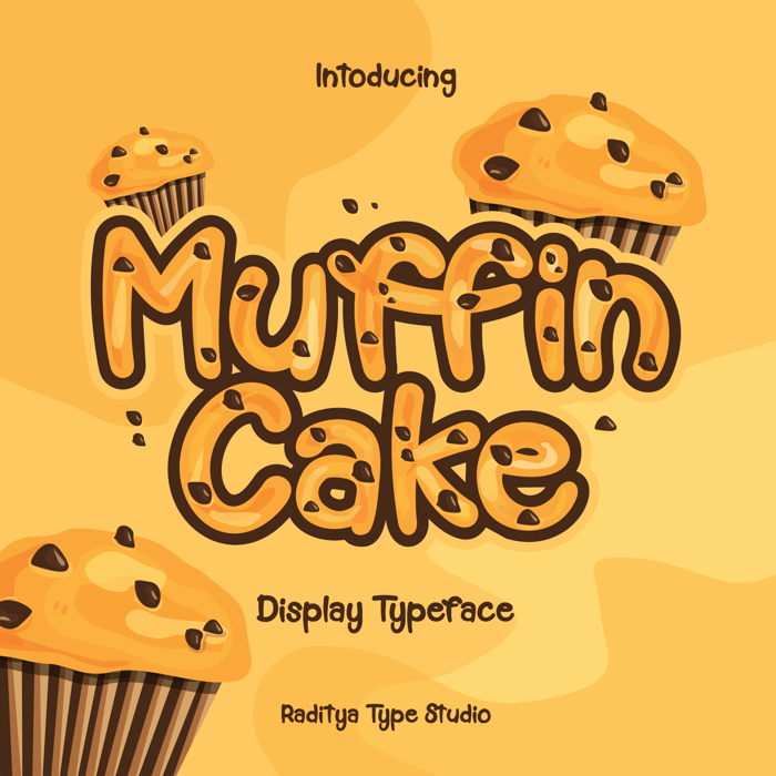 Muffin Cake Font poster