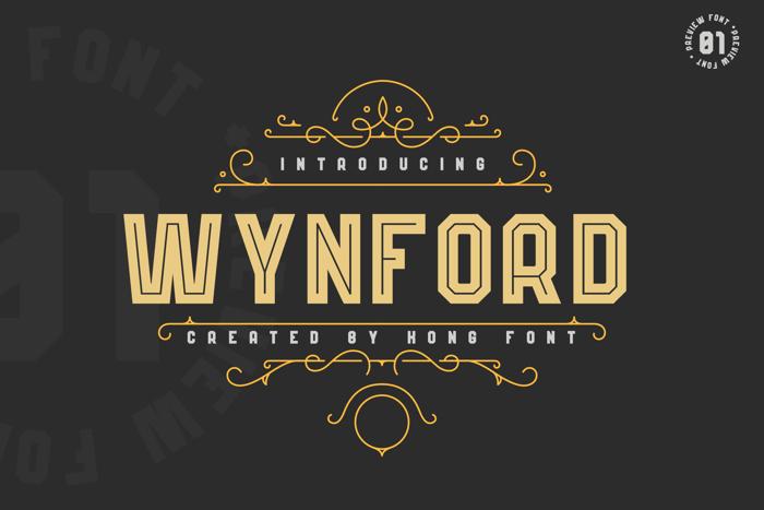 Wynford Font poster