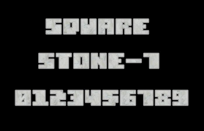 Square Stone-7 Font poster