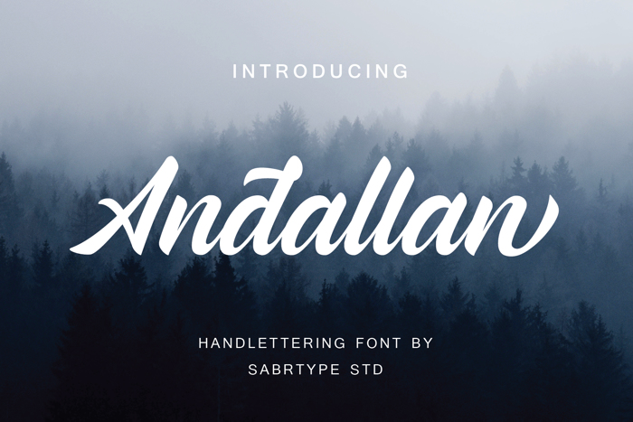 Andallan Font poster