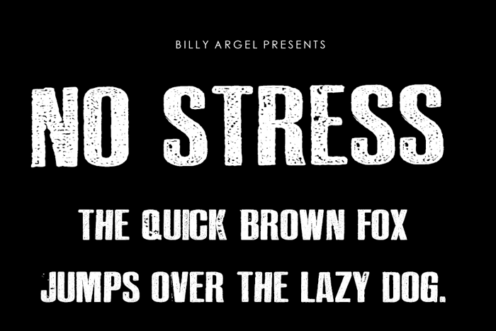 NO STRESS Font poster