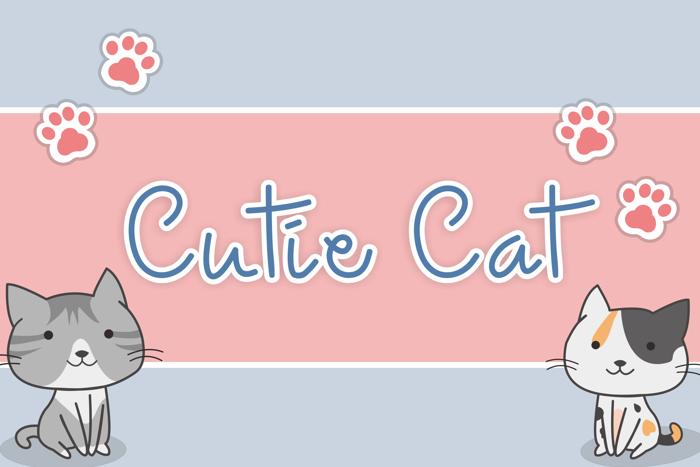 Cutie Cat Font poster