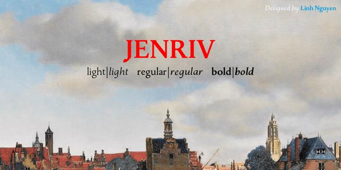Jenriv Font poster