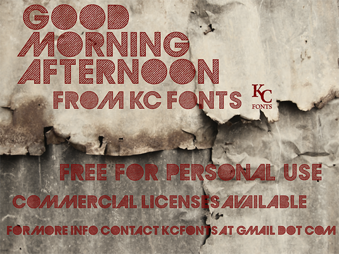 GoodMorningAfternoon Font poster