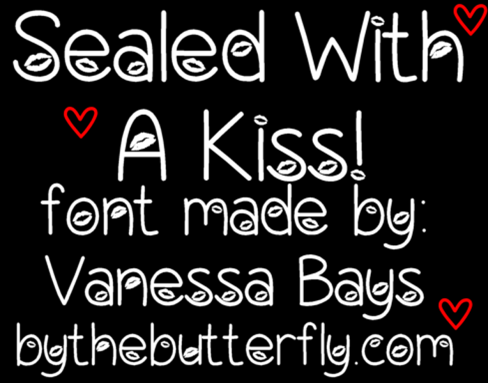 Sealed With A Kiss Font poster
