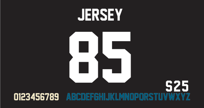 Jersey M54 Font poster