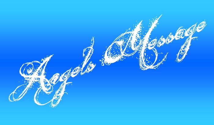 Angels Message Font poster