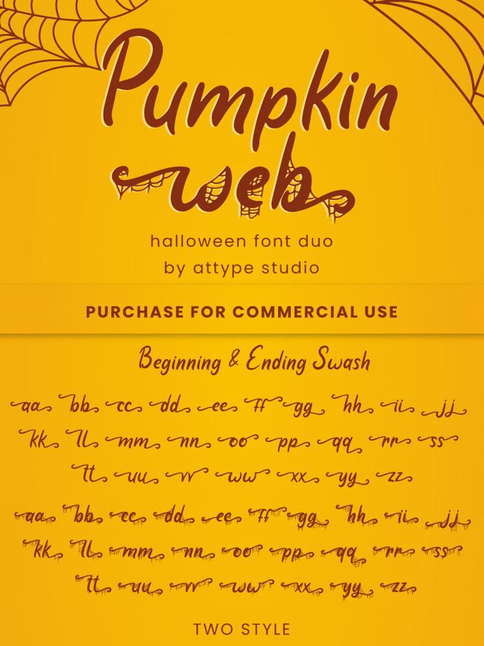Pumpkin Web Font poster