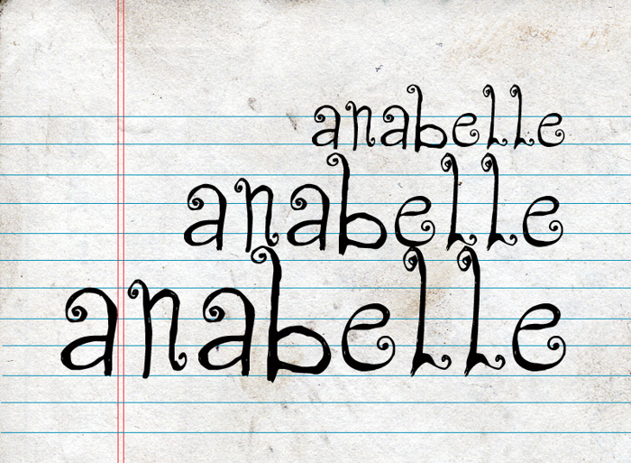 CF Anabelle Font poster