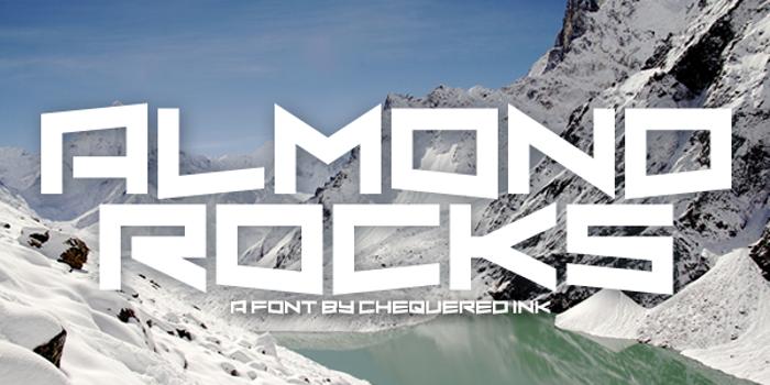 Almond Rocks Font poster