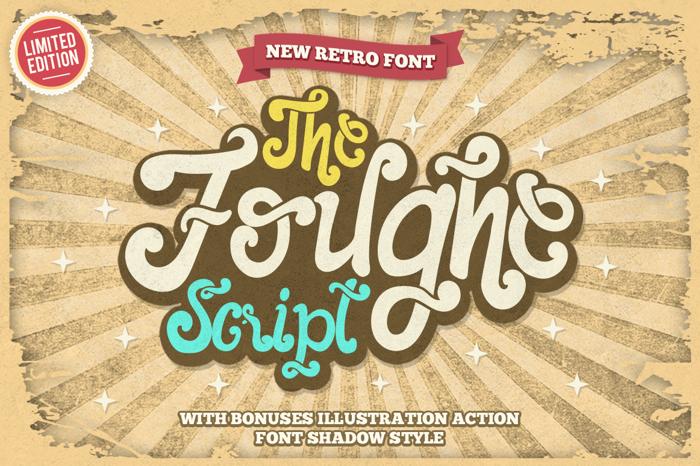 The Foughe Script Font poster