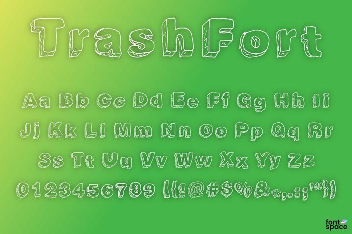 Trash Fort Font poster
