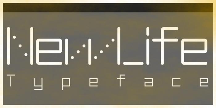 NewLife-Square Font poster