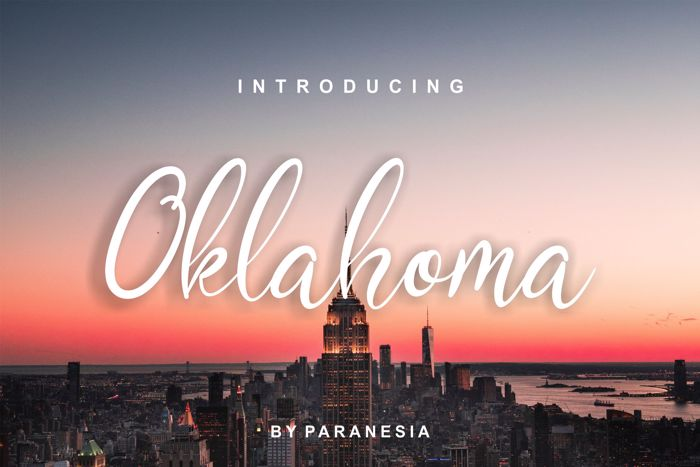 Oklahoma Script Font poster