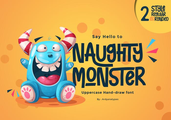 Naughty Monster Font poster