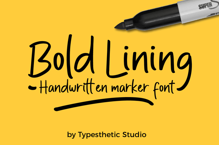 Bold Lining Font poster
