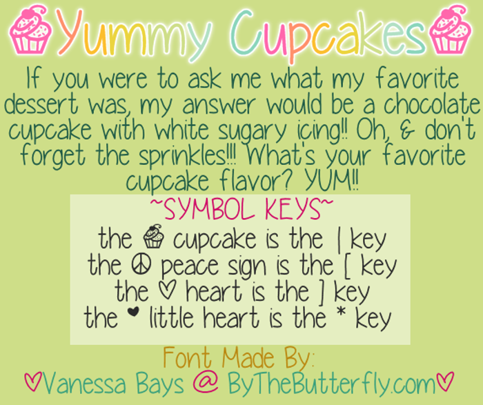 YummyCupcakes Font poster