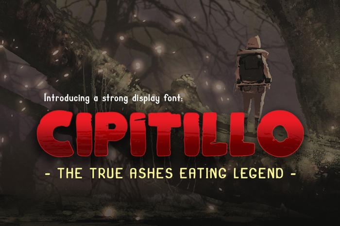 Cipitillo Font poster