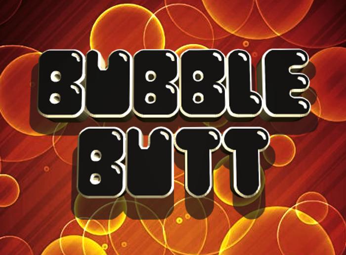 Bubble Butt Font poster