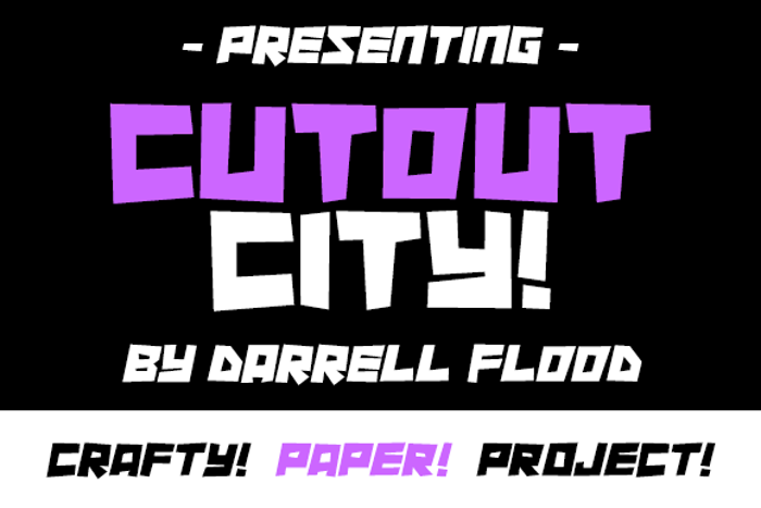 Cutout City Font poster