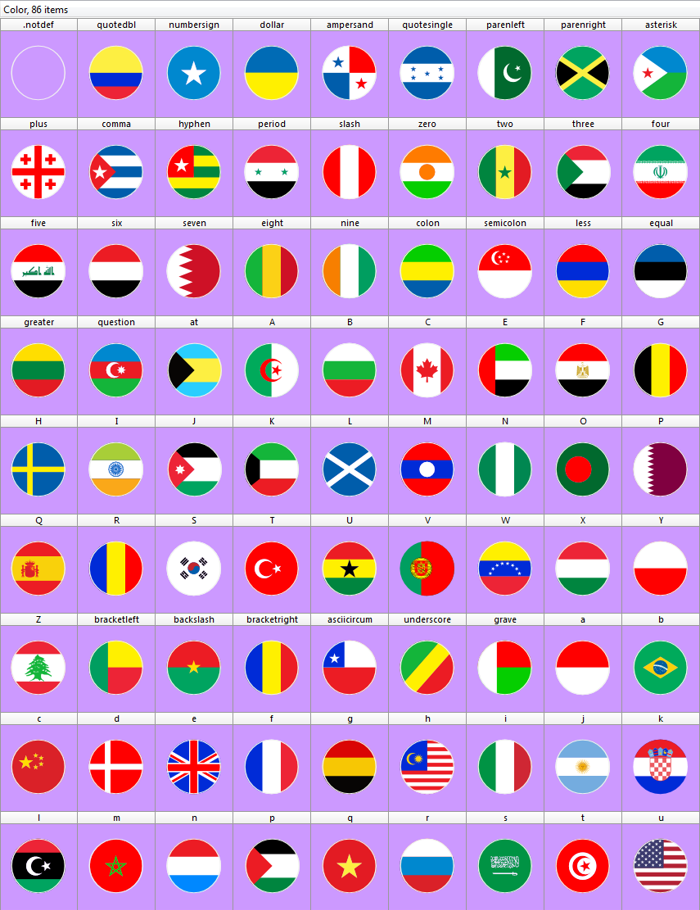 flags world color Font poster