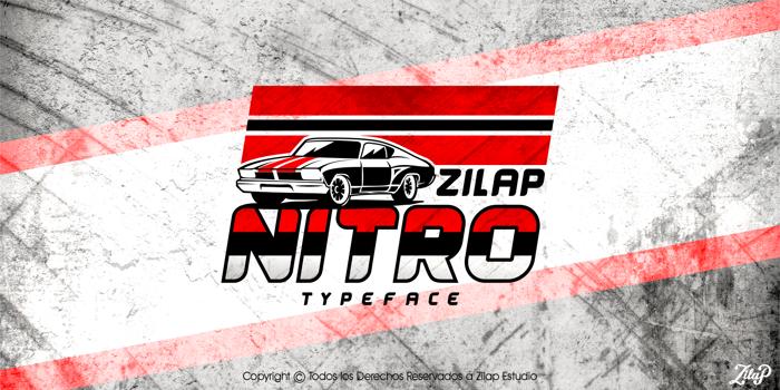 Zilap Nitro Font poster