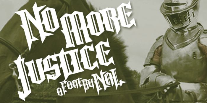 No More Justice Font poster